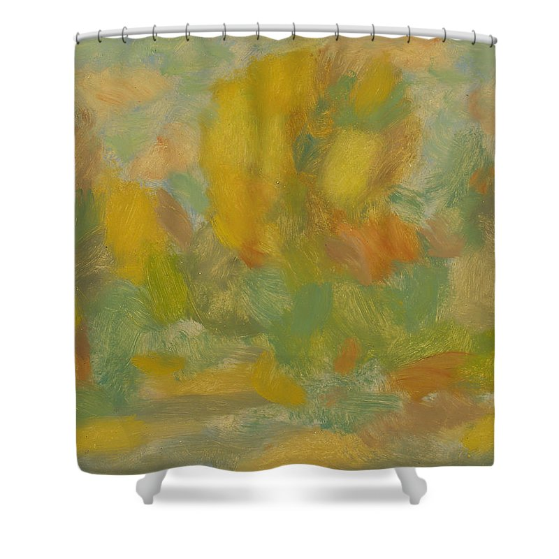 Street Shower Curtain featuring the painting Autumn by Robert Nizamov