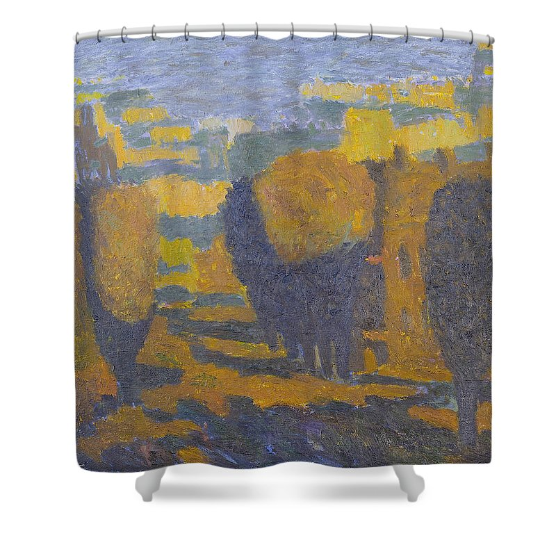 Summer Shower Curtain featuring the painting Sunset by Robert Nizamov
