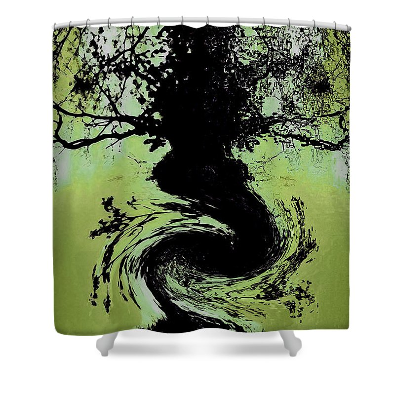Abstract Shower Curtain featuring the digital art Abstract by Galeria Trompiz