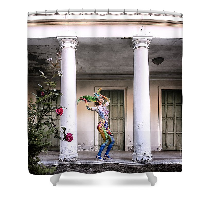 Bodypainting Shower Curtain featuring the photograph Bodypainting by Traven Milovich
