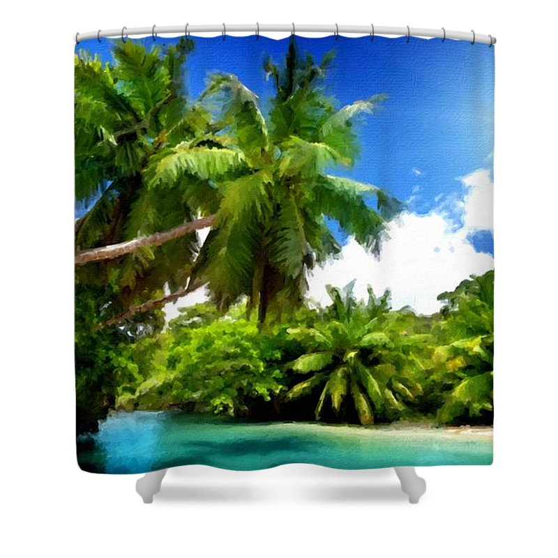 Painters Shower Curtain featuring the digital art F G Landscape by Usa Map