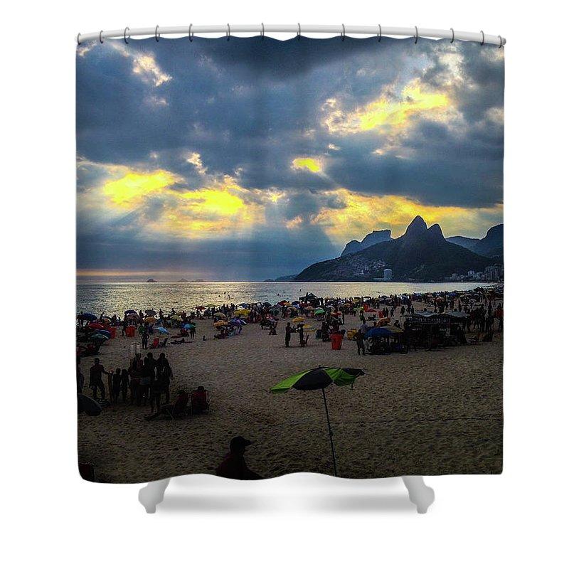 Ipanema Shower Curtain featuring the photograph Ipanema Beach by Cesar Vieira