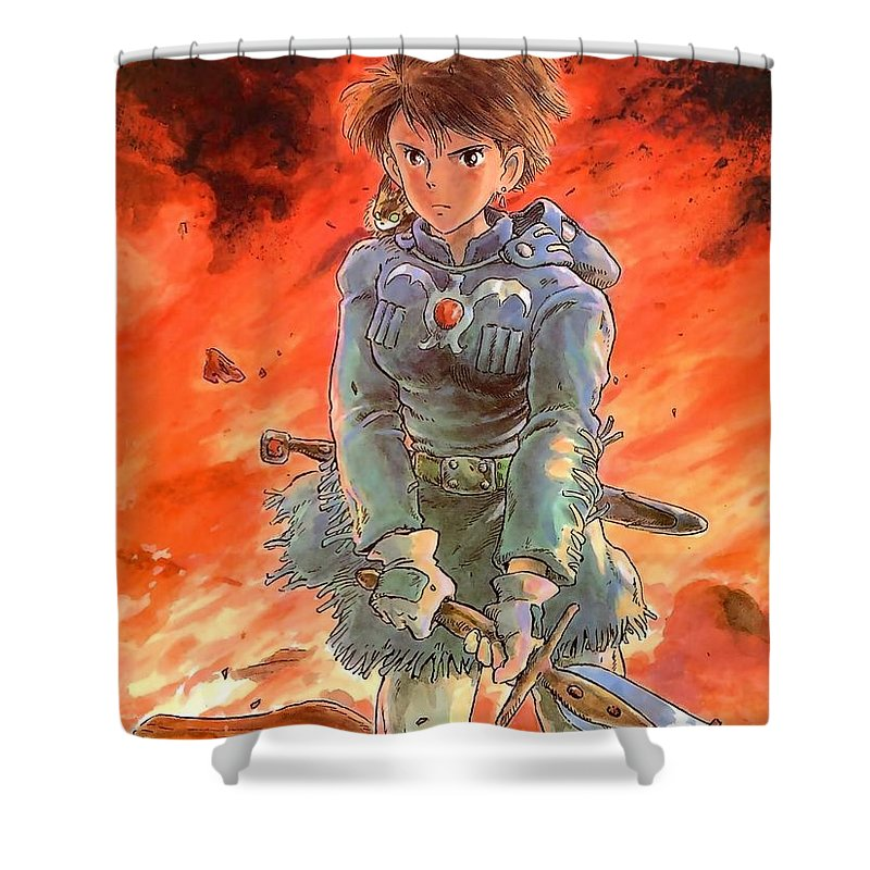 1 Other Anime Studio Ghibli Shower Curtain Featuring The Digital Art 12054