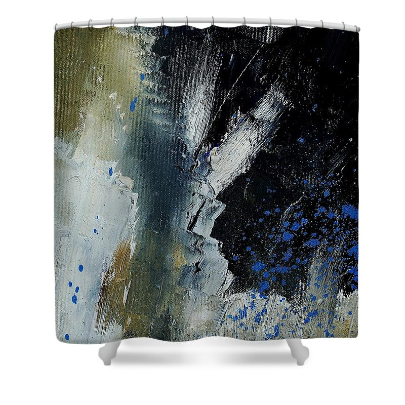 Abstract Shower Curtain featuring the painting 1237 by Pol Ledent