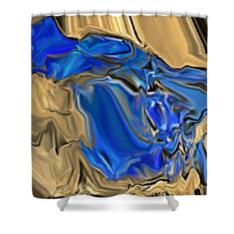 Abstract Shower Curtain featuring the digital art 1297exp6 by Ron Bissett