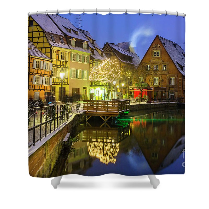 Alsace Shower Curtain featuring the photograph Colmar, Petite Venice, Alsace, France, by Marco Arduino