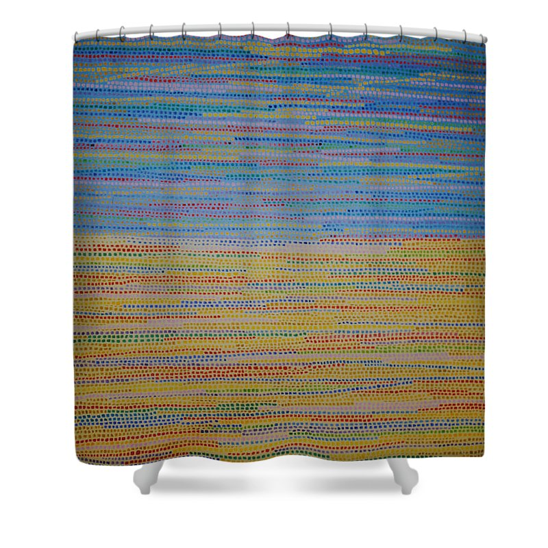 Inspirational Shower Curtain featuring the painting Identity by Kyung Hee Hogg