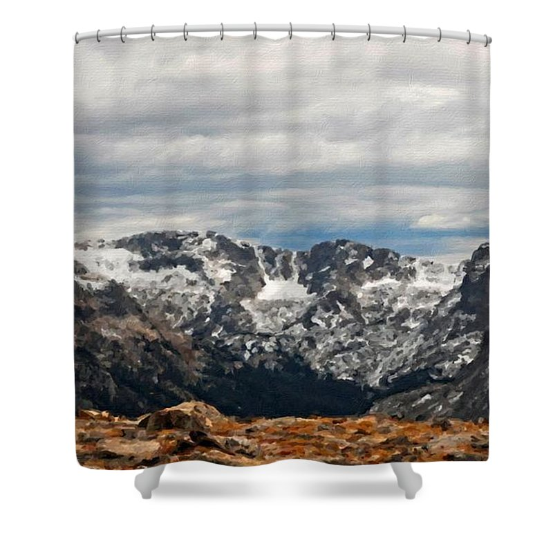 Show Shower Curtain featuring the digital art Landscape Artwork by Usa Map