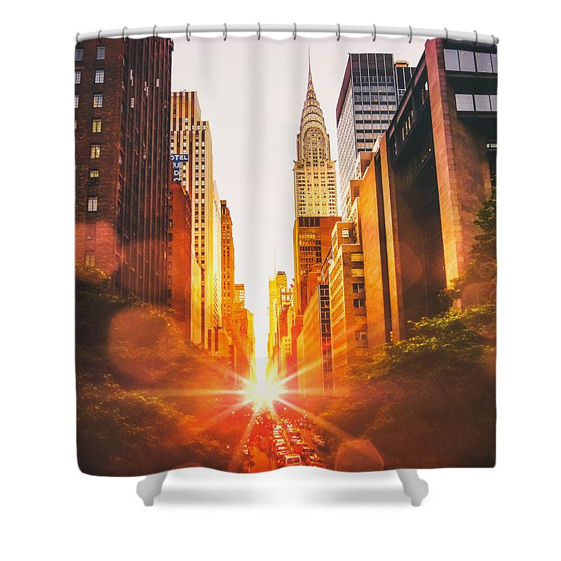 Chrysler Building Shower Curtains