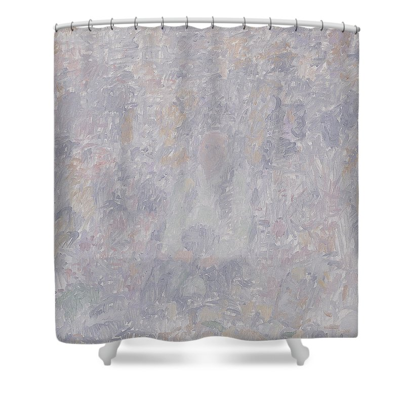 Person Shower Curtain featuring the painting Old Man by Robert Nizamov