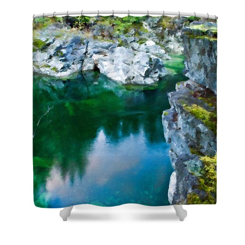 C Shower Curtain featuring the digital art R G Landscape by Usa Map