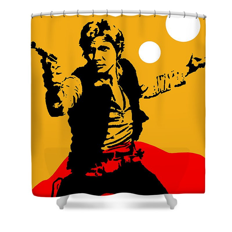 Star Wars Shower Curtain featuring the mixed media Star Wars Han Solo Collection by Marvin Blaine