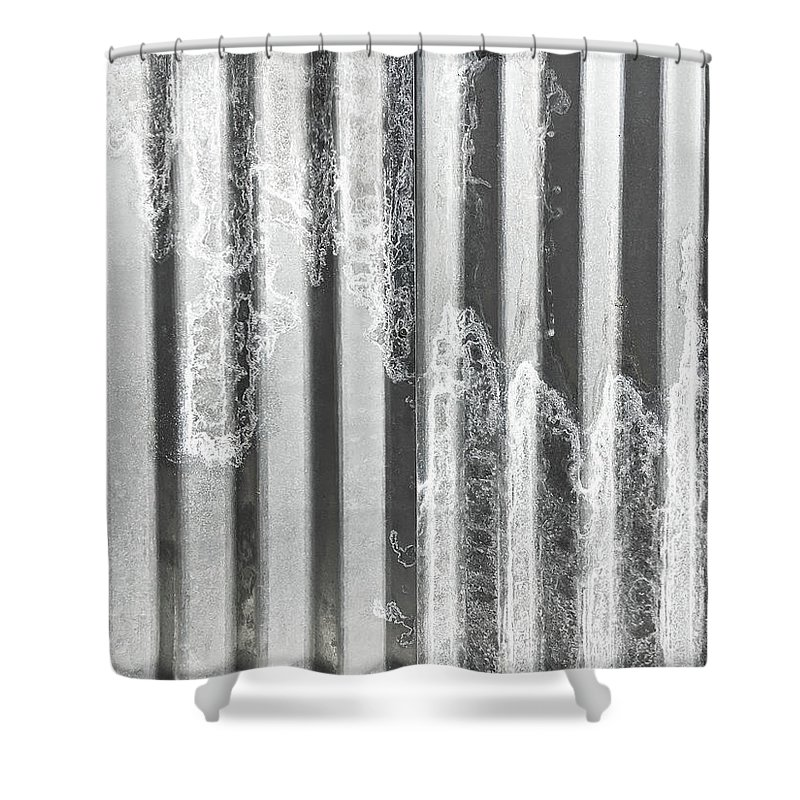 Corrugated Metal Shower Curtain for Sale by Tom Gowanlock