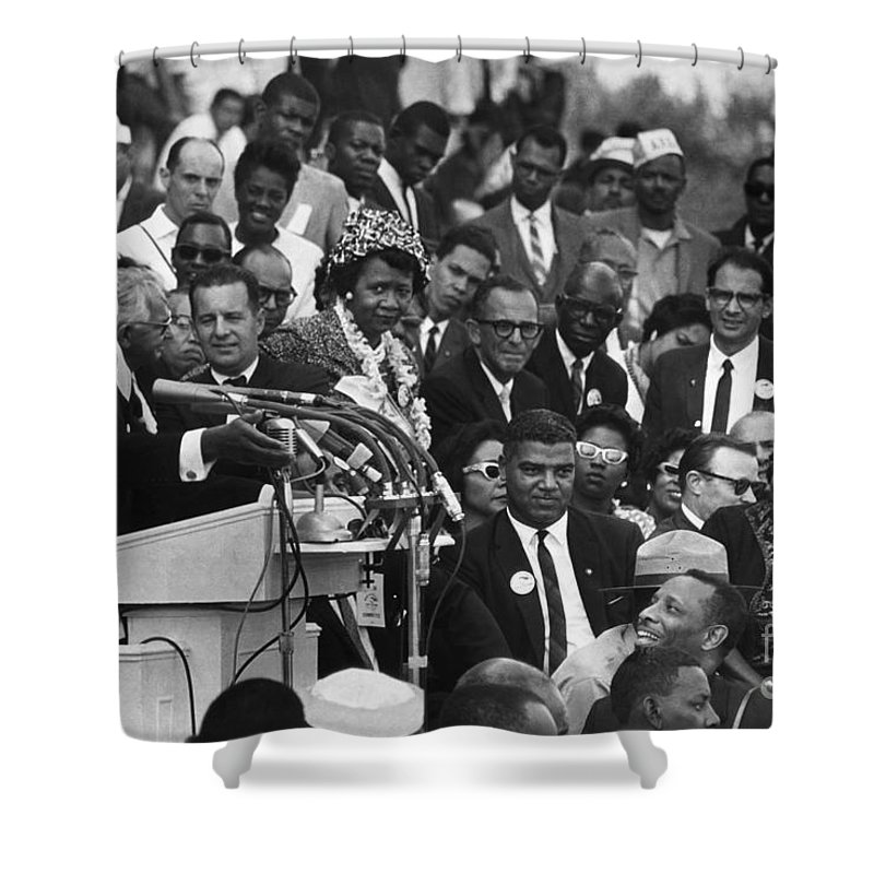 1963 Shower Curtain featuring the photograph Martin Luther King, Jr by Granger