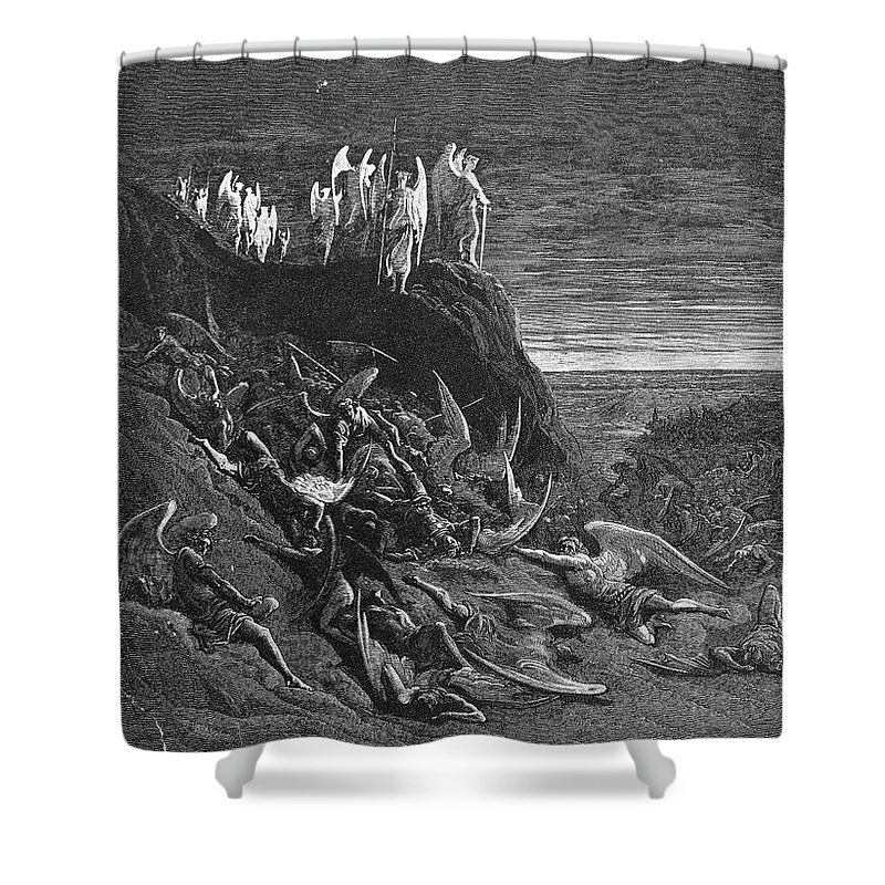 Archaeologist Shower Curtain featuring the photograph Milton: Paradise Lost by Granger