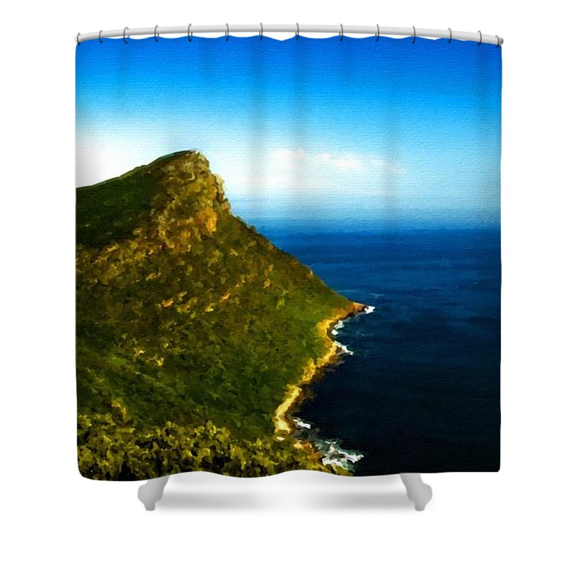 Nature Shower Curtain featuring the digital art Landscape Drawing by Usa Map