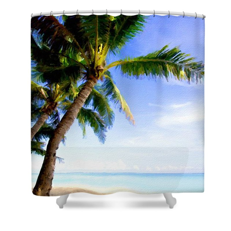 Landscape Shower Curtain featuring the digital art Landscape Ma by Usa Map