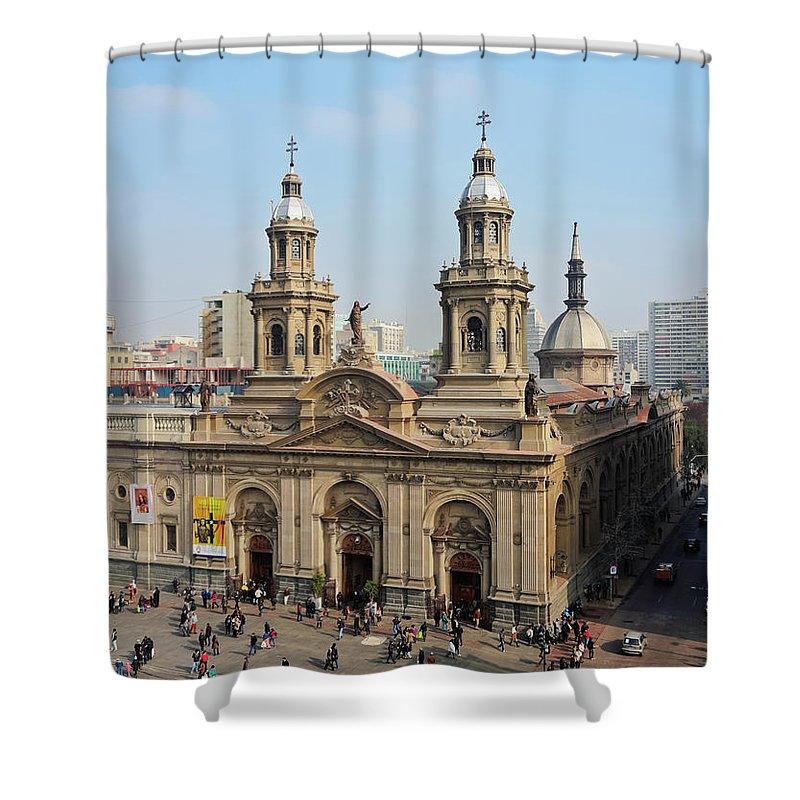South America Shower Curtain featuring the photograph Santiago De Chile by Karol Kozlowski