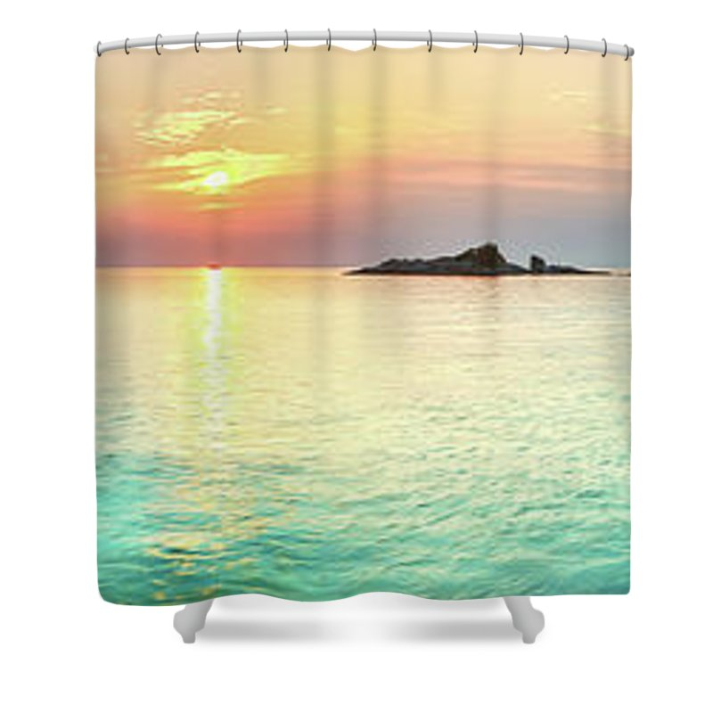 Sea Shower Curtain featuring the photograph Sunrise by MotHaiBaPhoto Prints