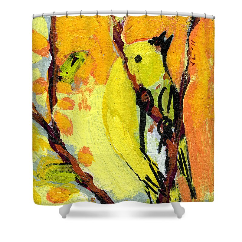 Yellow Bird Shower Curtains