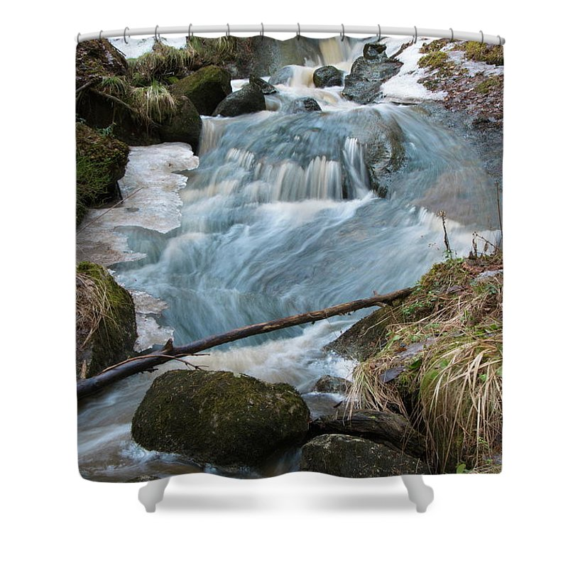 Creek Shower Curtain featuring the photograph Rapids by Esko Lindell