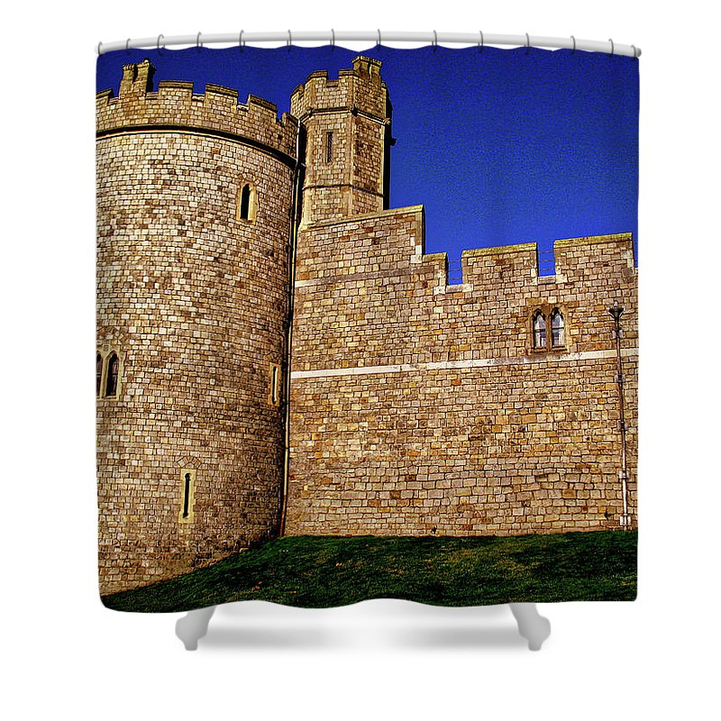 Windsor Castle England United Kingdom Uk Shower Curtain featuring the photograph Windsor Castle England United Kingdom Uk by Paul James Bannerman