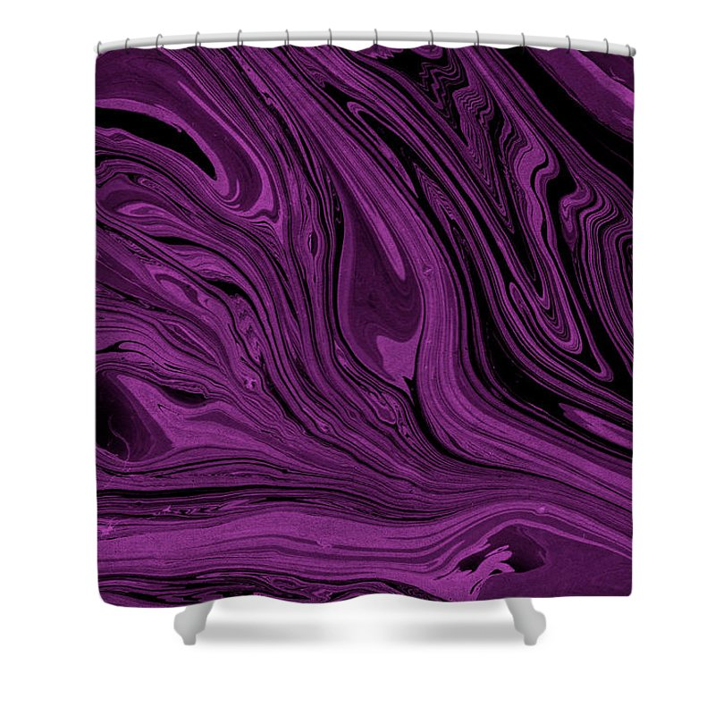 Marble Shower Curtain featuring the digital art #17 by Alina Debris