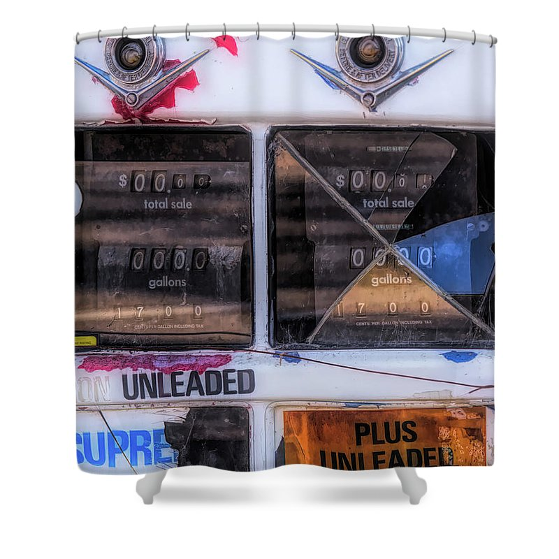 Monterey Shower Curtain featuring the photograph 17 Cents Per Gallon by Alan Kepler