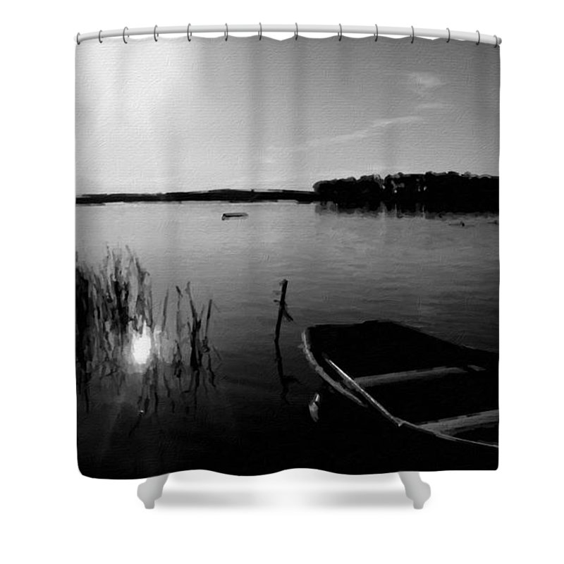 In Shower Curtain featuring the digital art Landscape Wall Art by Usa Map