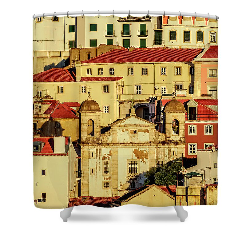 Lisbon Shower Curtain featuring the photograph Lisbon, Portugal by Karol Kozlowski