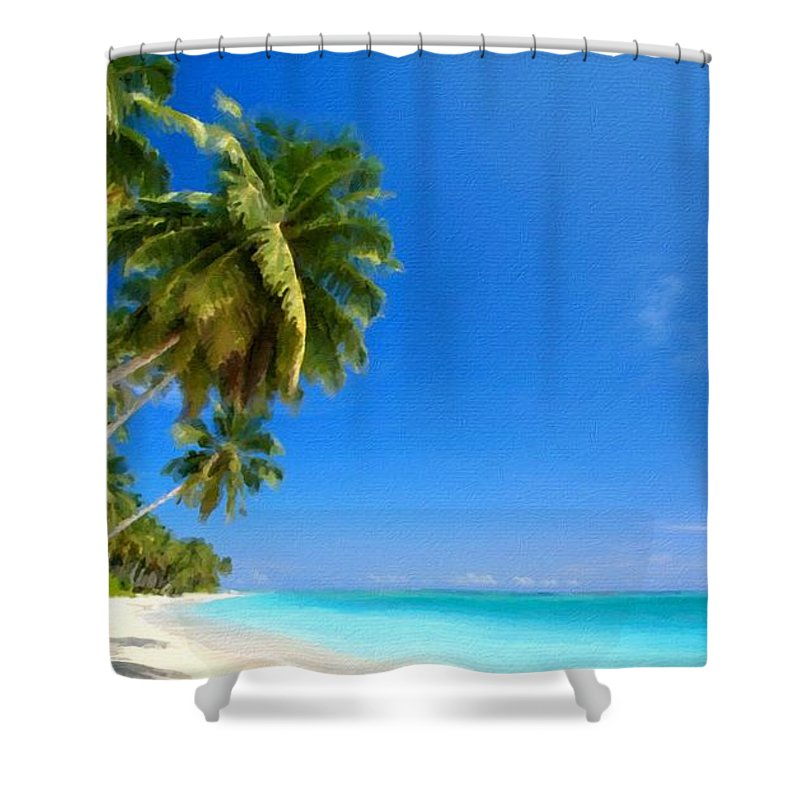 Acrylic Shower Curtain featuring the digital art P G Landscape by Usa Map