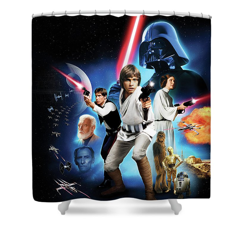 Star Wars Episode Iv A New Hope 1977 Shower Curtain For Sale By Geek N Rock