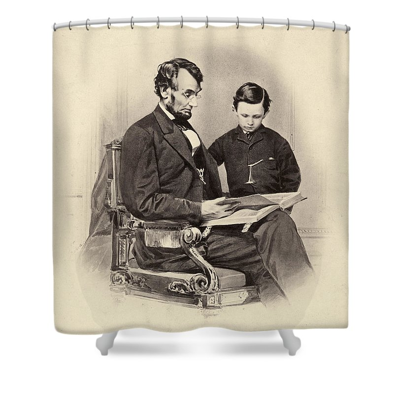 1865 Shower Curtain featuring the photograph Abraham Lincoln (1809-1865) by Granger