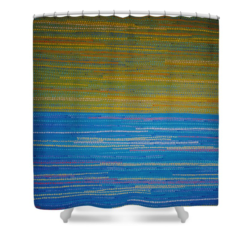 Abstract Shower Curtain featuring the painting Identity by Kyung Hee Hogg