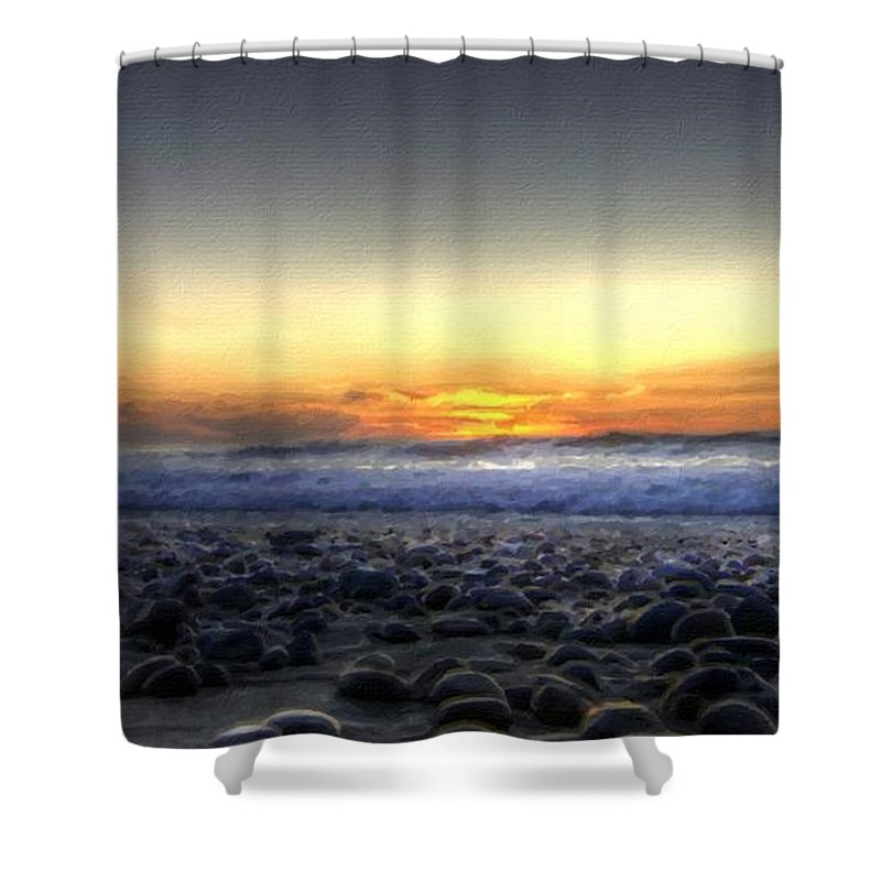 Set Shower Curtain featuring the digital art Nc Landscape by Usa Map