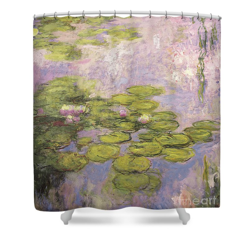 Monet Shower Curtain featuring the painting Nympheas by Claude Monet