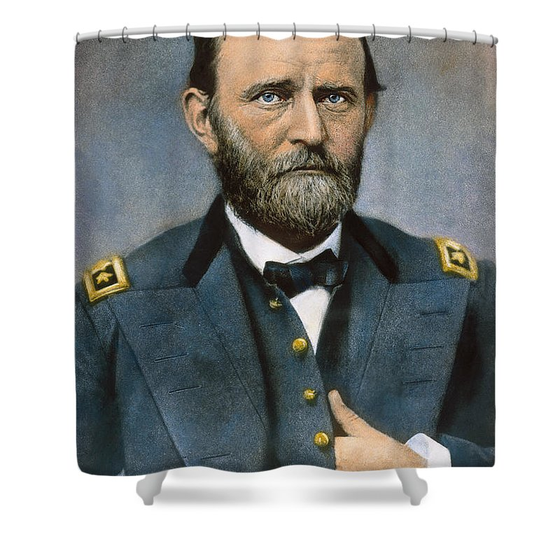 1864 Shower Curtain featuring the photograph Ulysses S. Grant (1822-1885) by Granger