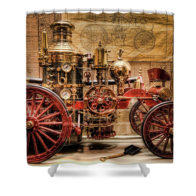 Hdr Shower Curtain featuring the photograph 1870 Lafrance by Brad Granger
