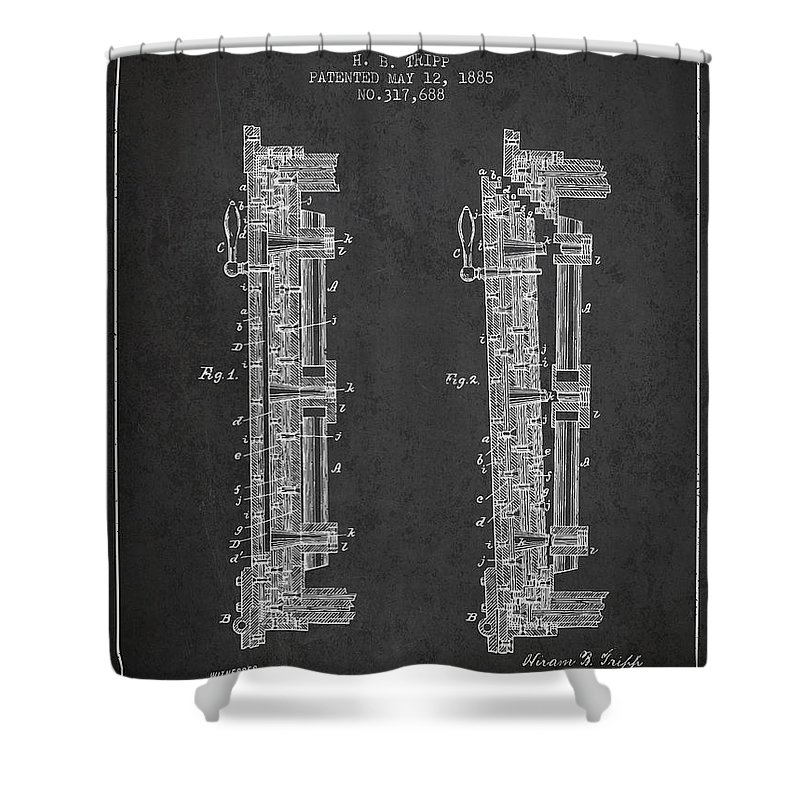 Bank Safe Shower Curtain Featuring The Digital Art 1885 Door Patent
