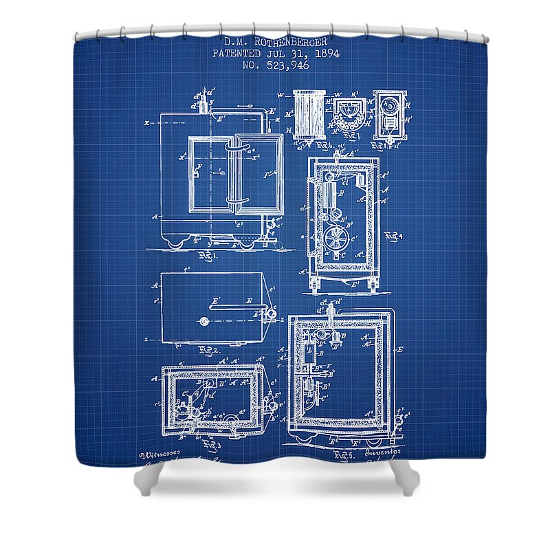1894 bank safe patent blueprint shower curtain for sale by aged pixel bank safe shower curtain featuring the digital art 1894 bank safe patent blueprint by aged malvernweather Images