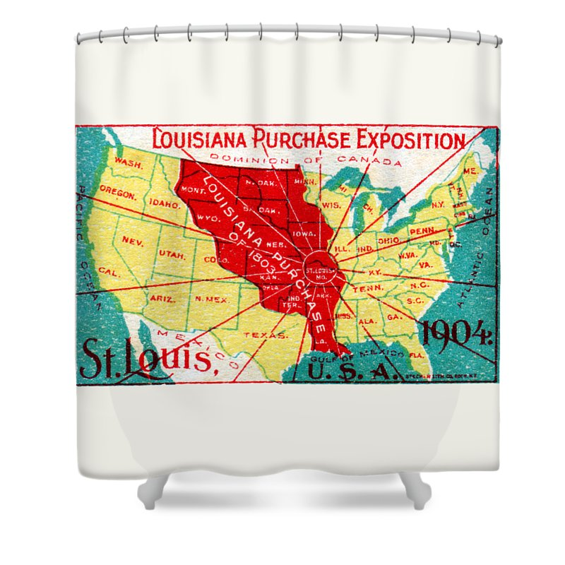 1904 Louisiana Purchase Exposition Shower Curtain featuring the painting 1904 Louisiana Purchase Exposition by Historic Image