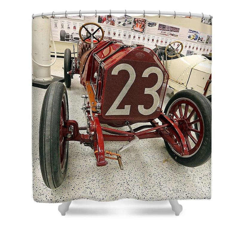 Itala Shower Curtain featuring the photograph 1907 Itala Gran Prix Race Car by Steve Gass