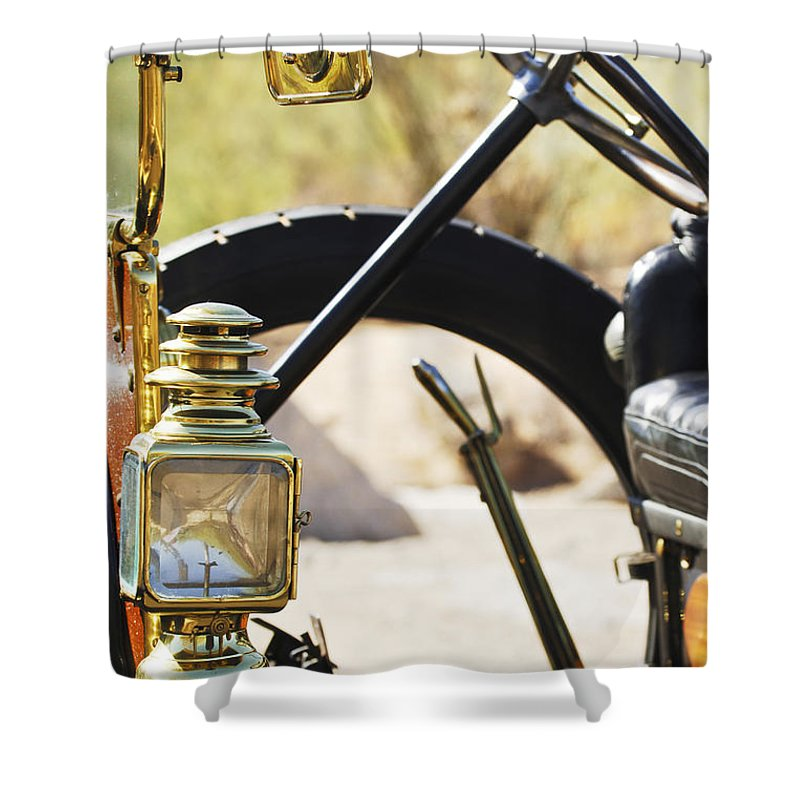 1910 Pope Hartford T Shower Curtain featuring the photograph 1910 Pope Hartford T 3 by Jill Reger