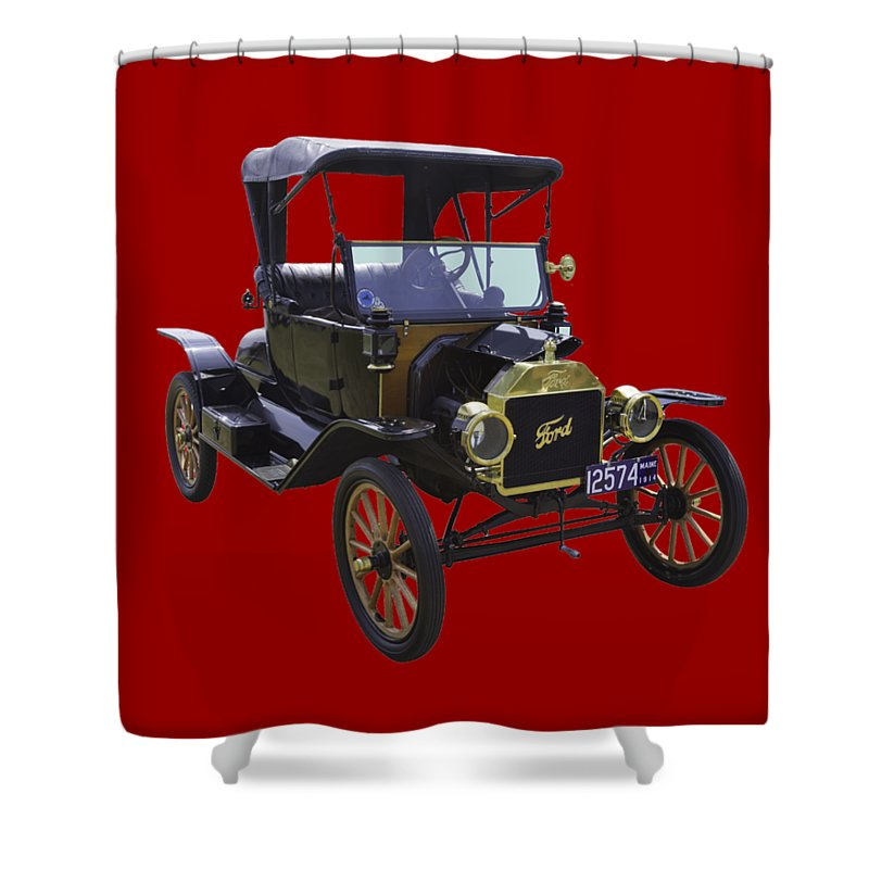 Classic Shower Curtain Featuring The Photograph 1914 Model T Ford Antique Car By Keith Webber Jr