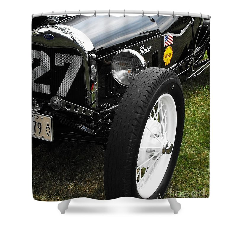 Ford Shower Curtain featuring the photograph 1920-1930 Ford Racer by Neil Zimmerman