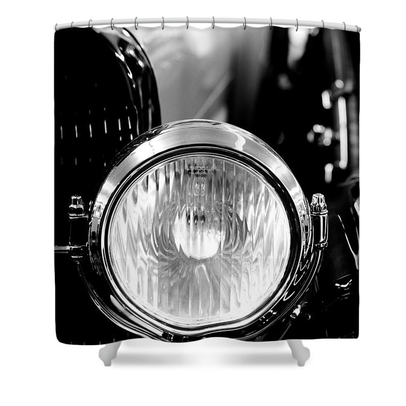 1925 Lincoln Town Car Headlight Shower Curtain For Sale By Sebastian