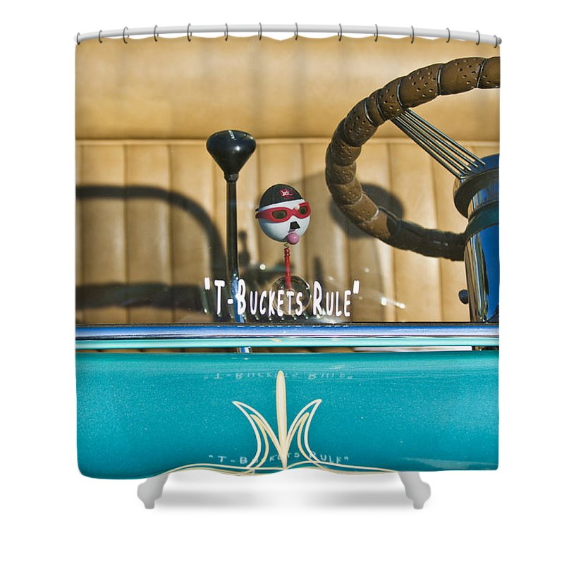 1925 T-bucket Shower Curtain featuring the photograph 1925 T-bucket Rules by Jill Reger