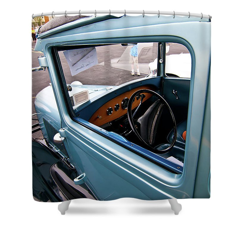 Antique Car Shower Curtain featuring the photograph 1929 Ford 2056 by Guy Whiteley