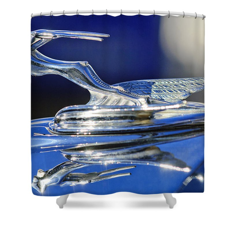 1931 Chrysler Imperial Cg Roadster Shower Curtain featuring the photograph 1931 Chrysler Imperial Cg Roadster by Jill Reger