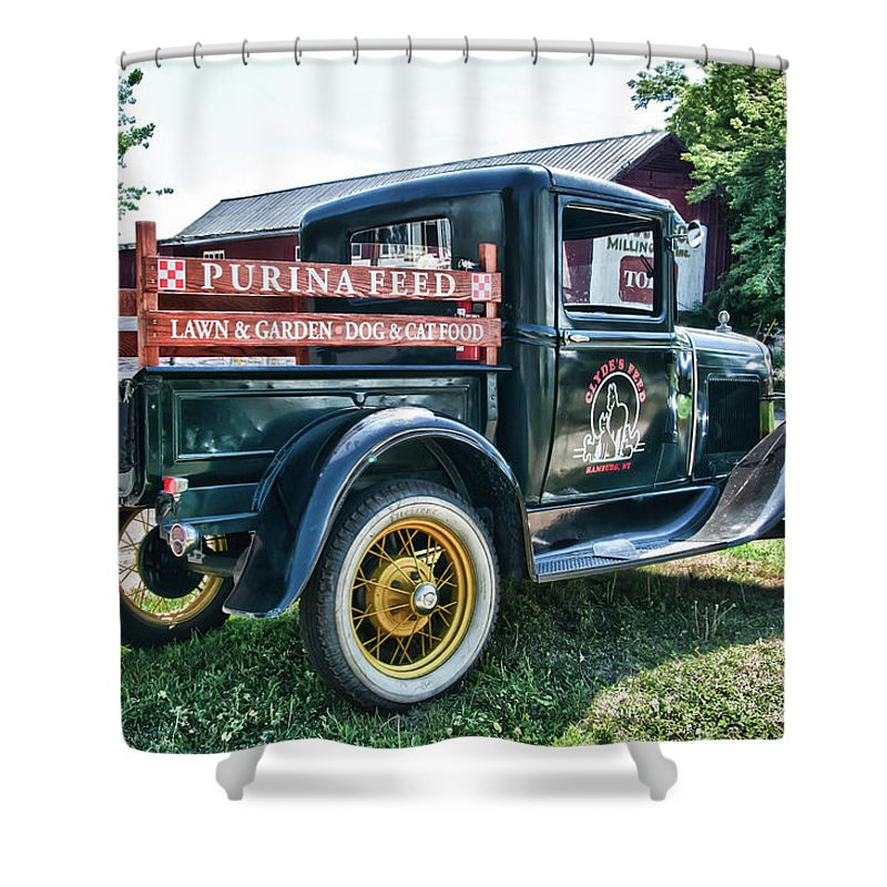 1931 Ford Shower Curtain featuring the photograph 1931 Ford Truck by Guy Whiteley